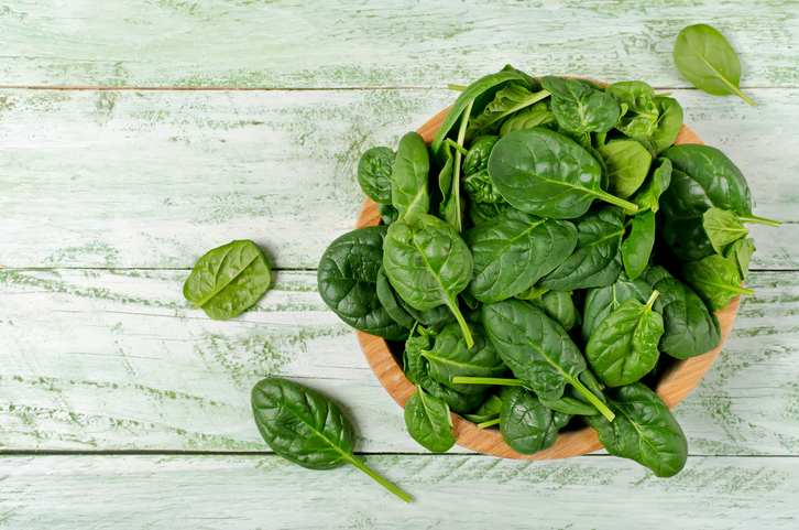 Spinach rich in vitamins and minerals